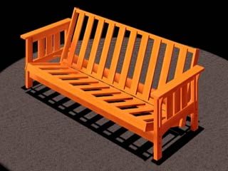 futon sofa bed   craftsman style  video  free woodworking plans projects patterns free wooden futon frame plans woodworking plans and information at      rh   woodworkersworkshop